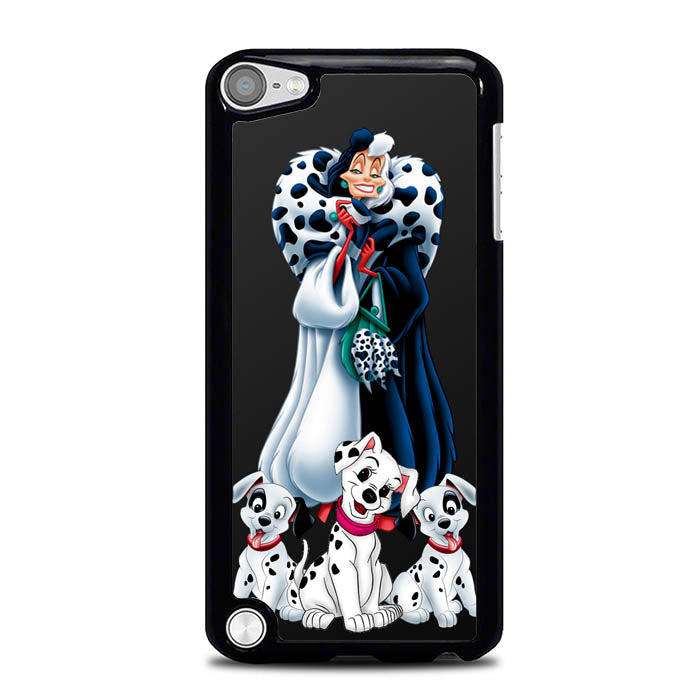 cruella de vil with dalmatian L0435a iPod Touch 5 Case