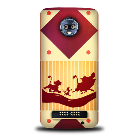 The Lion King Cartoon Disney L0581 Motorola Moto Z3 , Moto Z3 Play Case