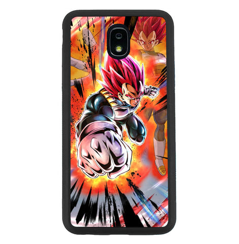 Dragonball Z Legend Supersaiyan God Vegeta Samsung Galaxy J7 2018, J7 V 2nd Gen, J7 Aero, J7 Star, J7 Top, J7 Crown, J7 Aura, J7 Refine, J7 Eon Case SS3114