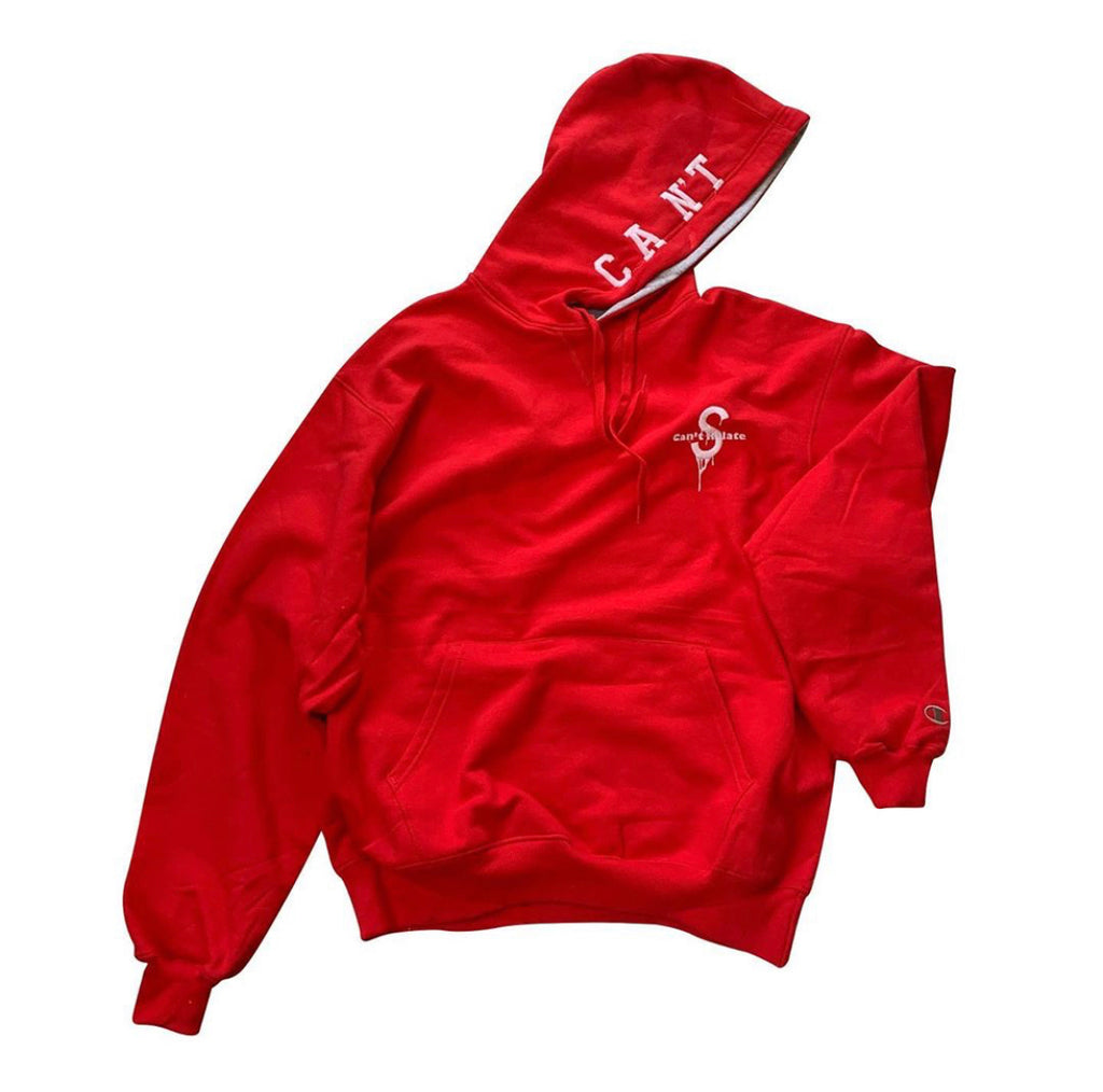 Saucey X Can't Relate Red Hoodie