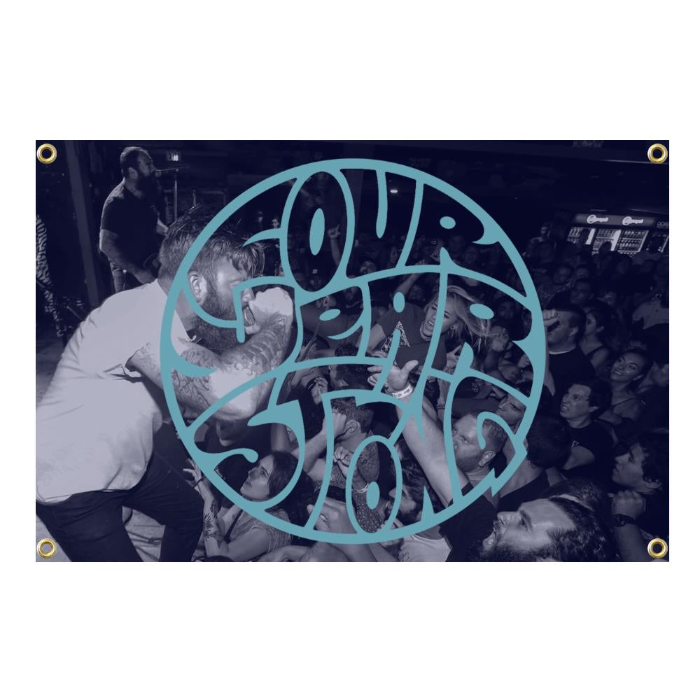 Four Year Strong 'Live Logo' Wall Flag