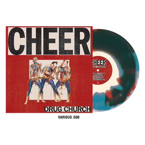 Drug Church 'Cheer' Vinyl - Aqua Blue /  Bone /  Red aside bside