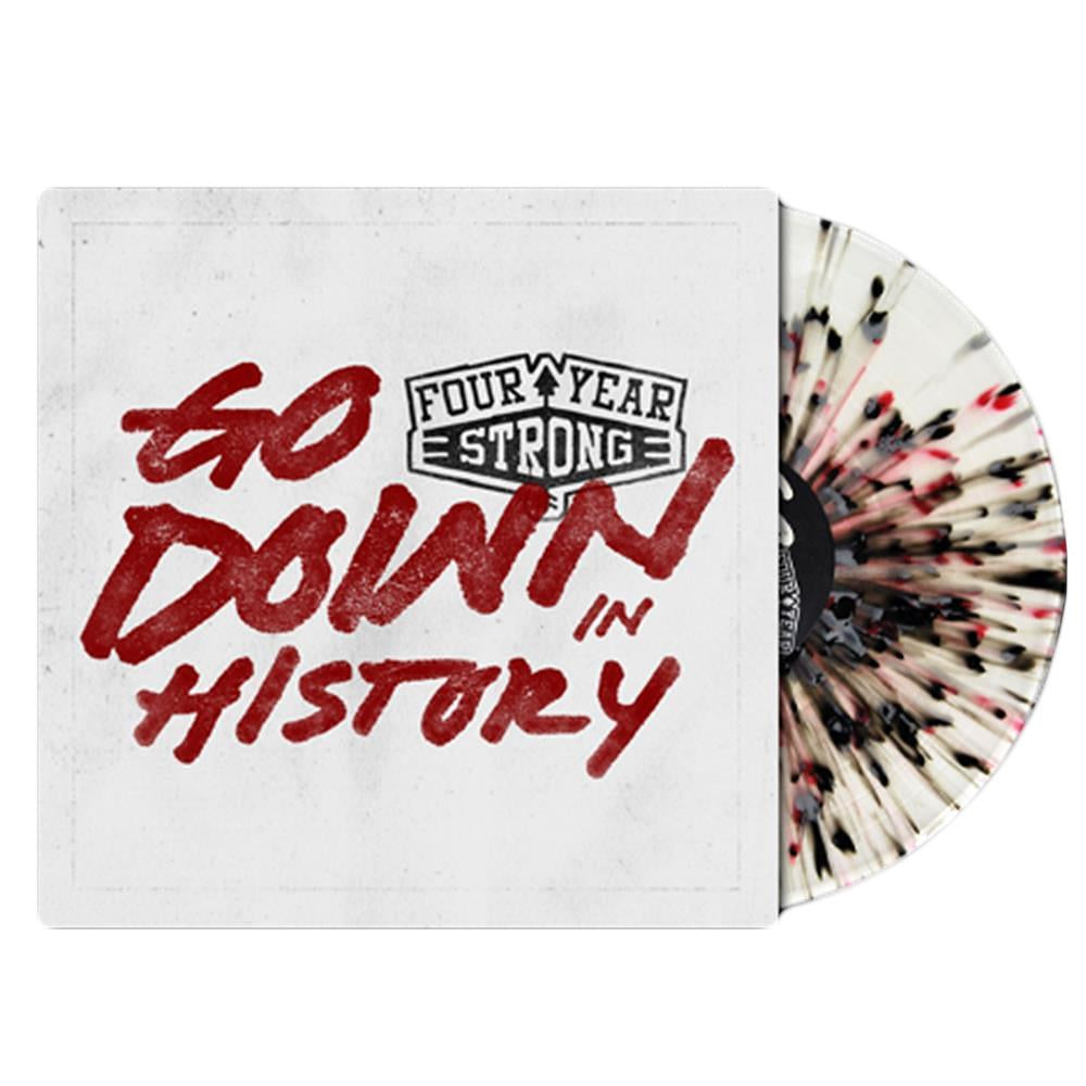 Four Year Strong 'Go Down In History' LP (CLEAR W/ RED & BLACK SPLATTER)
