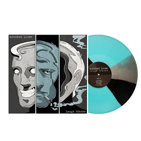 Knocked Loose 'Laugh Tracks' 6th pressing LP (Electric Blue w/ Black and Silver Twist /3000)