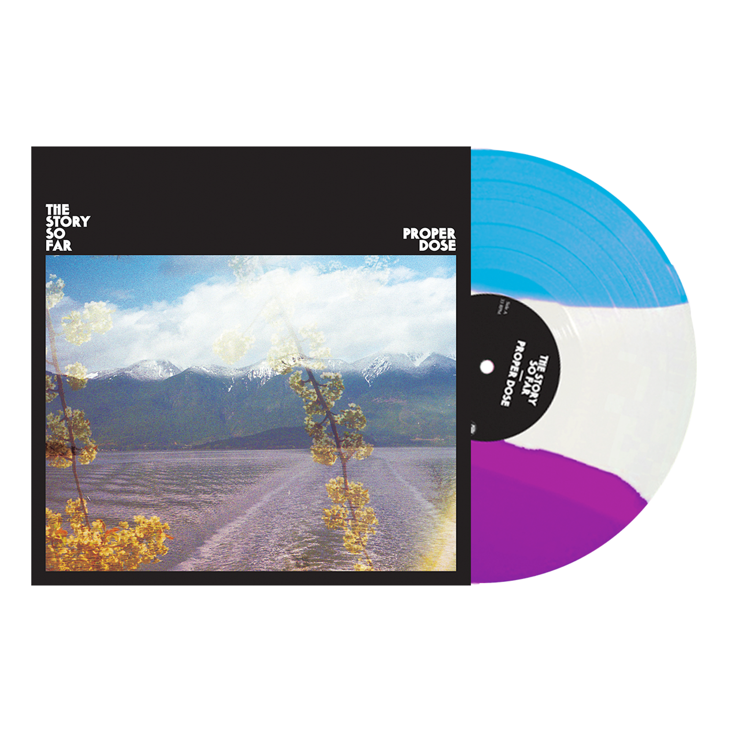 The Story So Far 'Proper Dose' Vinyl - (PN Webstore Exclusive 2) - Deep Purple / White /  Cyan Blue stripped tri-color