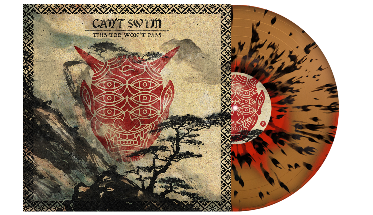 Can't Swim 'This Too Won't Pass' Blood Red w/ Heavy Black and Gold Splatter Vinyl (PN 2)