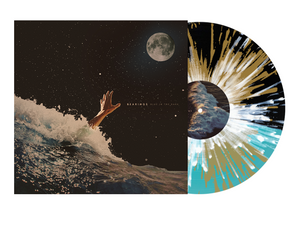 Bearings 'Blue In The Dark' LP (Half Black / Half Sea Blue w/ heavy Gold and White Splatter)