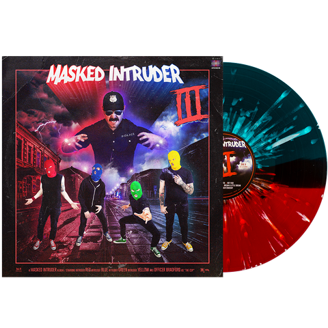 Masked Intruder 'III' LP (PN Webstore Exclusive 1 - Half Blood Red / Half Sea Blue w/ Heavy White Splatter)
