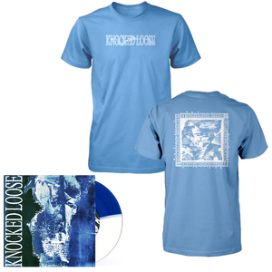 "Knocked Loose 'Mistakes Like Fractures' 7"" (Half Royal Blue / Half White) + T-Shirt (Mistakes Like Fractures)"