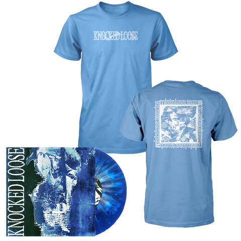 "Knocked Loose 'Mistakes Like Fractures' 7"" (PN Exclusive - Royal Blue w/ Heavy White Splatter) + T-Shirt (Mistakes Like Fractures)"