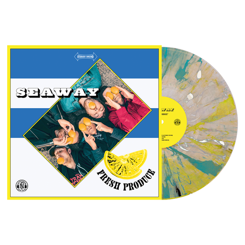 Seaway 'Fresh Produce' LP (PN webstore exclusive 2 - Clear with White, Easter yellow & Cyan Blue smoke)