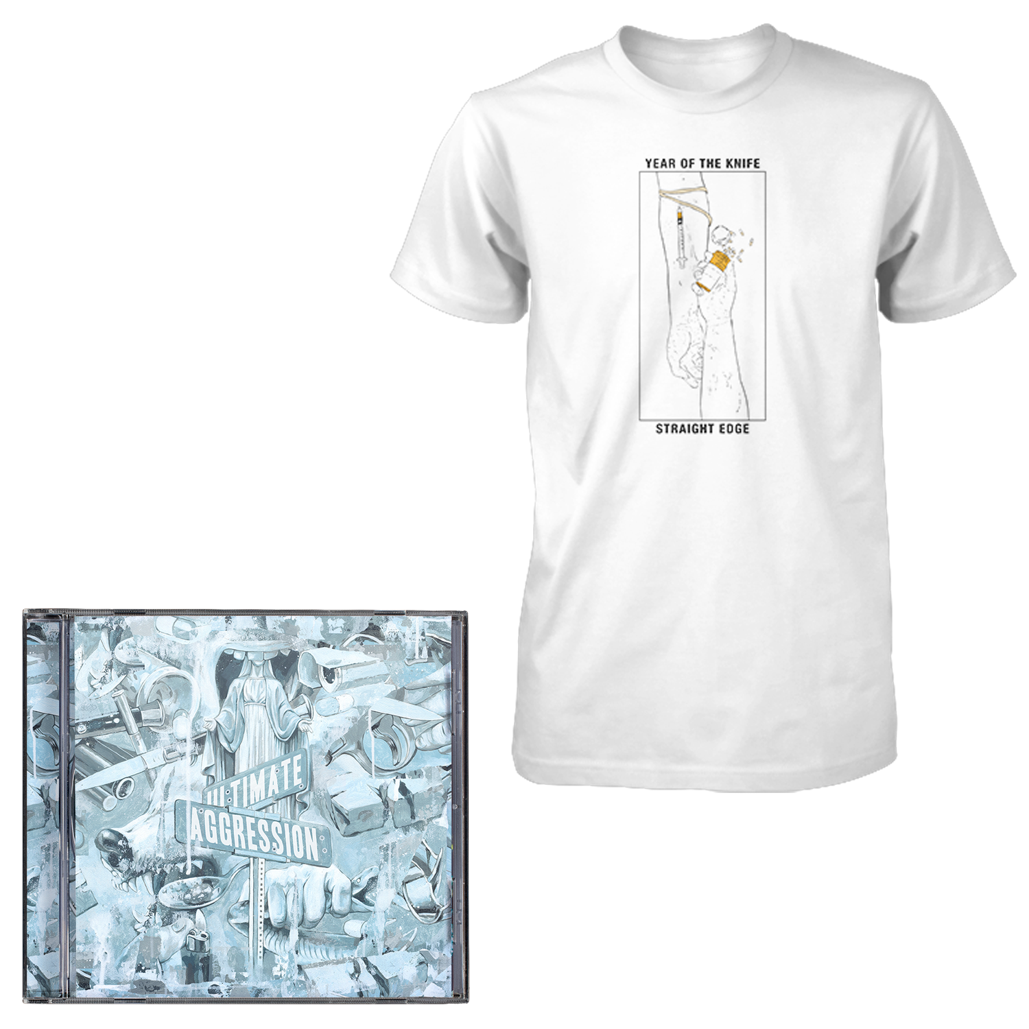 Year of the Knife 'Ultimate Aggression' CD + T-Shirt