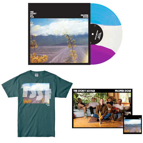 The Story So Far 'Proper Dose' VINYL BUNDLE 2 (PN Webstore Exclusive Vinyl 2 + Shirt (Teal) + Poster + Sticker)