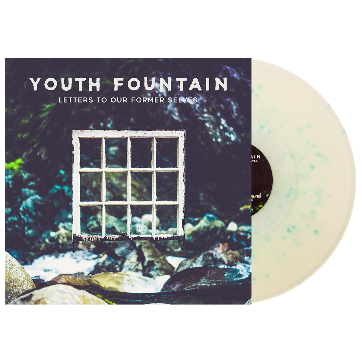 Youth Fountain 'Letters to Our Former Selves' LP (Milky Clear w/ Heavy Electric Blue Splatter)