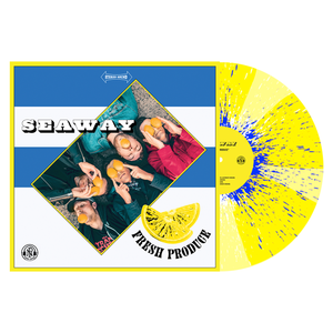 Seaway 'Fresh Produce' LP (PN webstore exclusive 1 - Easter Yellow & Highlighter Yellow Pinwheel w/ heavy Royal Blue & White Splatter)