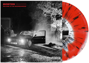 Boston Manor 'Welcome To The Neighbourhood' Vinyl (PN Webstore Exclusive) White / Red aside-bside w/ Black Splatter