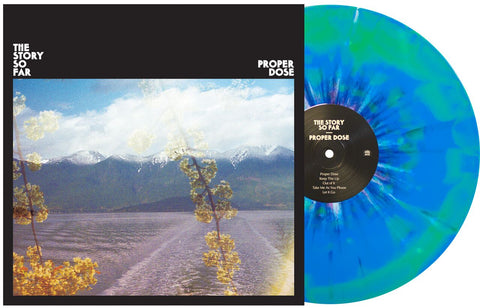 The Story So Far 'Proper Dose' Vinyl (PN Webstore Exclusive 1) Cyan Blue / Highlighter Yellow w/ Heavy White & Deep Purple Splatter