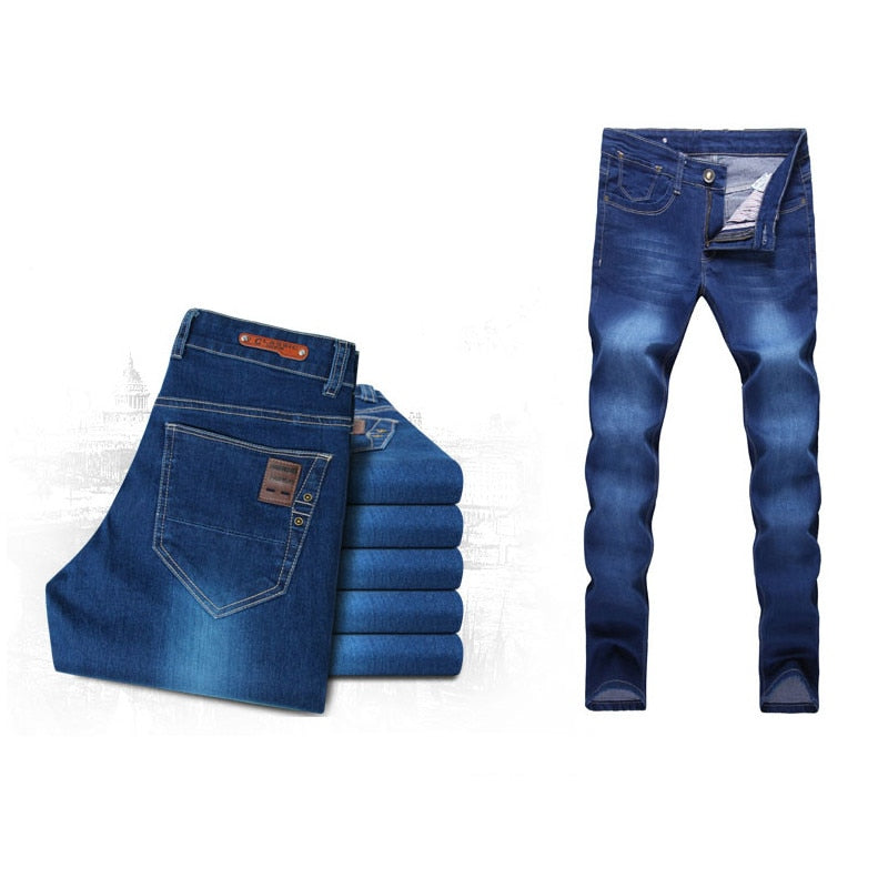 a3829f20 Spring Summer New Fashion Men Casual Stretch Skinny Jeans Slim fit Trousers
