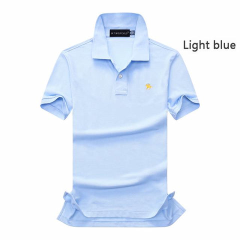 bb1896244fd Top quality 2018 Summer mens New short sleeve small horse polos shirts  casual cotton mens lapel