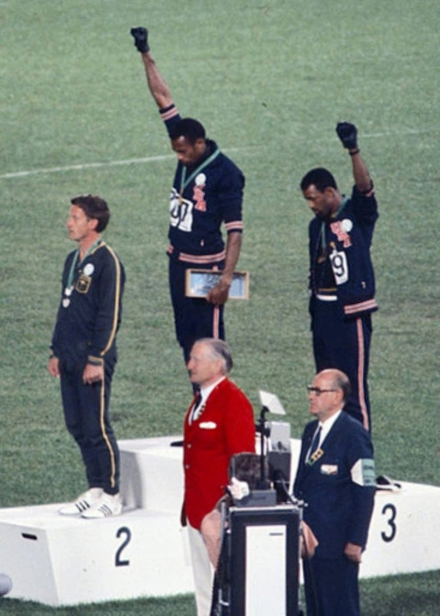 John Carlos and Tommie Smith Black Power Salute at Olympics 1968