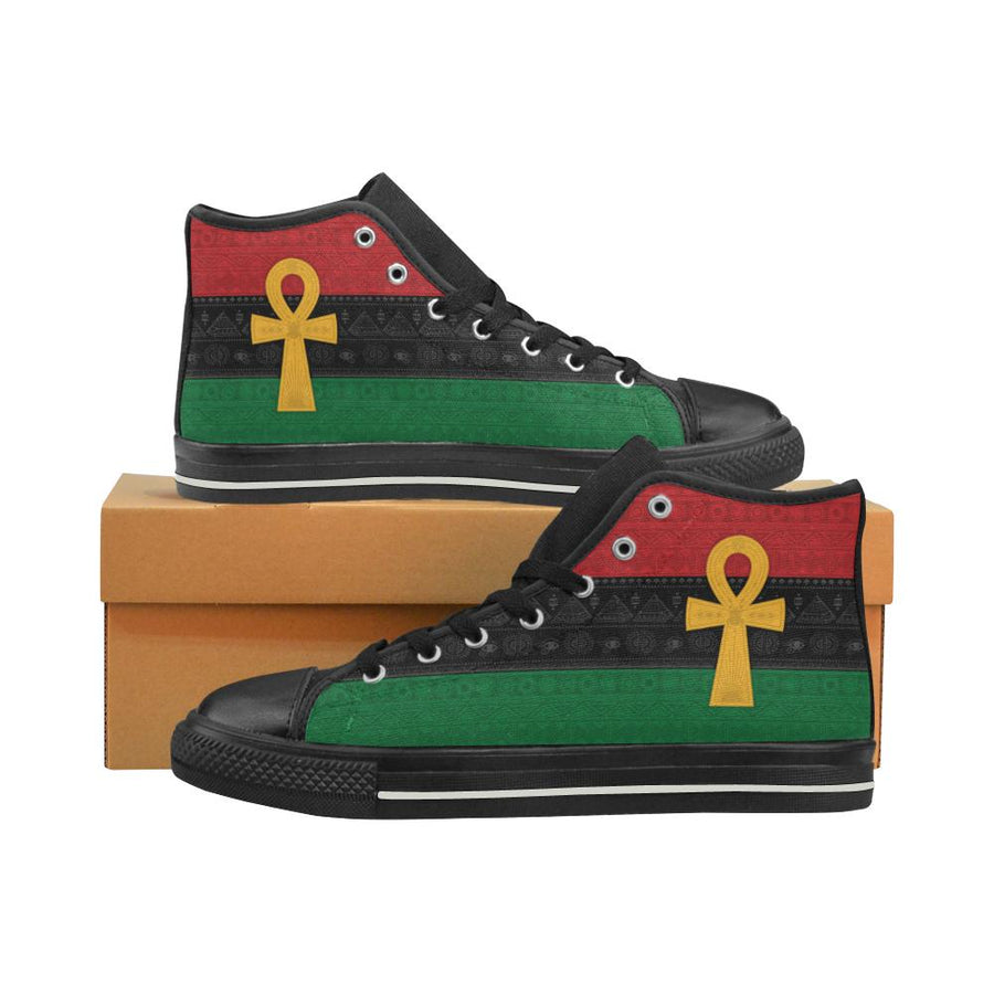 Pan African Ankh Canvas Shoes