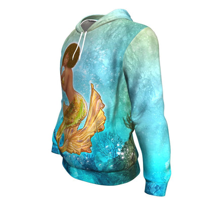 Melanin Mermaid All-over Hoodie