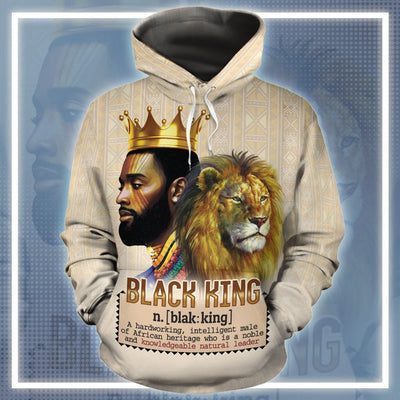 Lion Black King All-Over Hoodie