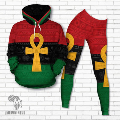Pan African Ankh  Fleece All-over Hoodie And Legging Set