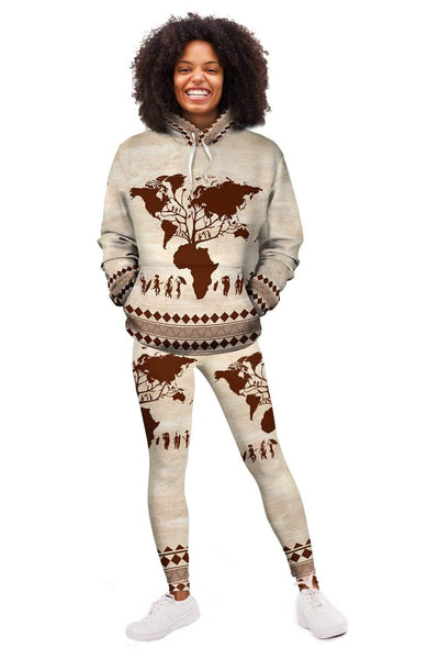 Roots African  Fleece All-over Hoodie And Legging Set
