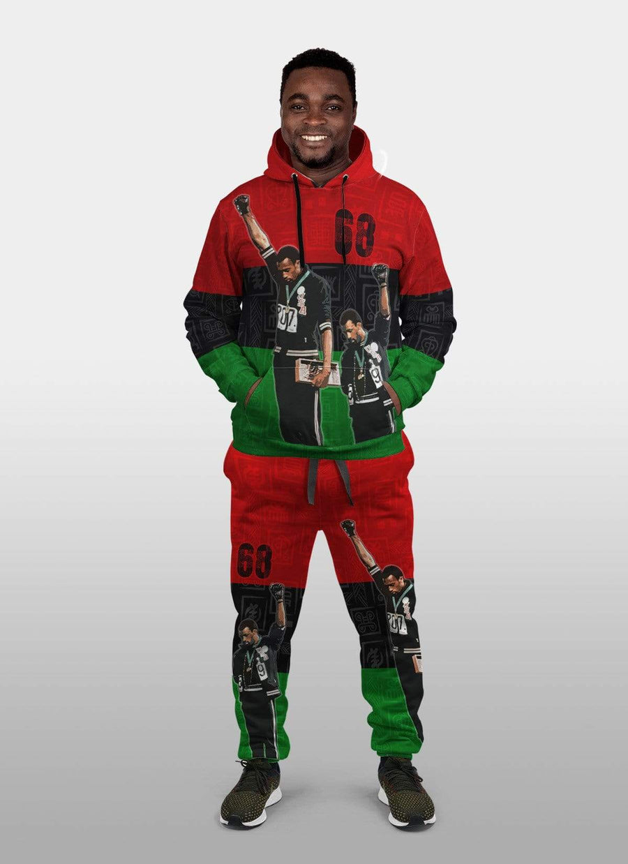 68 Olympics Fleece All-over Hoodie And Joggers Set
