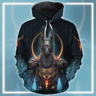 Anubis God All-Over Hoodie