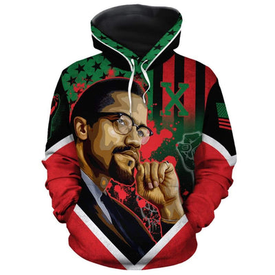 African American Flag Malcolm X All-over Hoodie