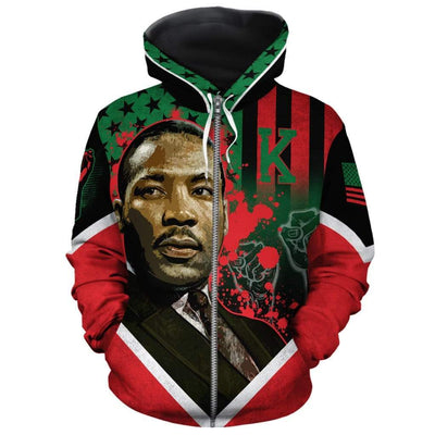 African American Flag Martin Luther King All-over Hoodie