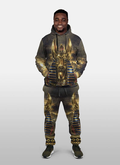 Anubis 1 All-over Hoodie And Joggers Set