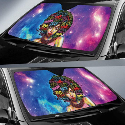 Black Woman Auto Sun Shade