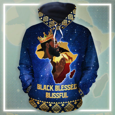 Black Blessed Blissful Hoodie