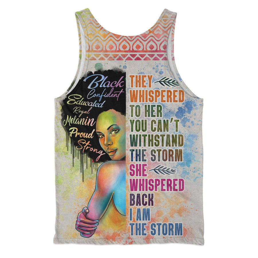 Black Girl I Am The Storm Tank Top