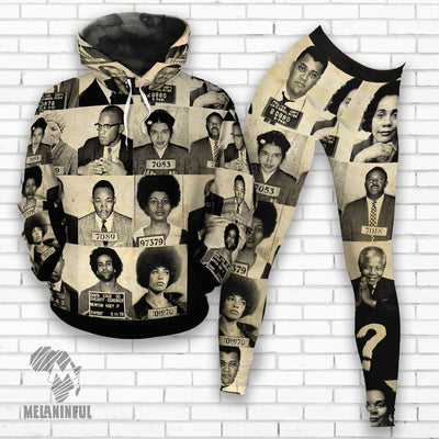 Civil Rights Leaders  Fleece All-over Hoodie And Legging Set