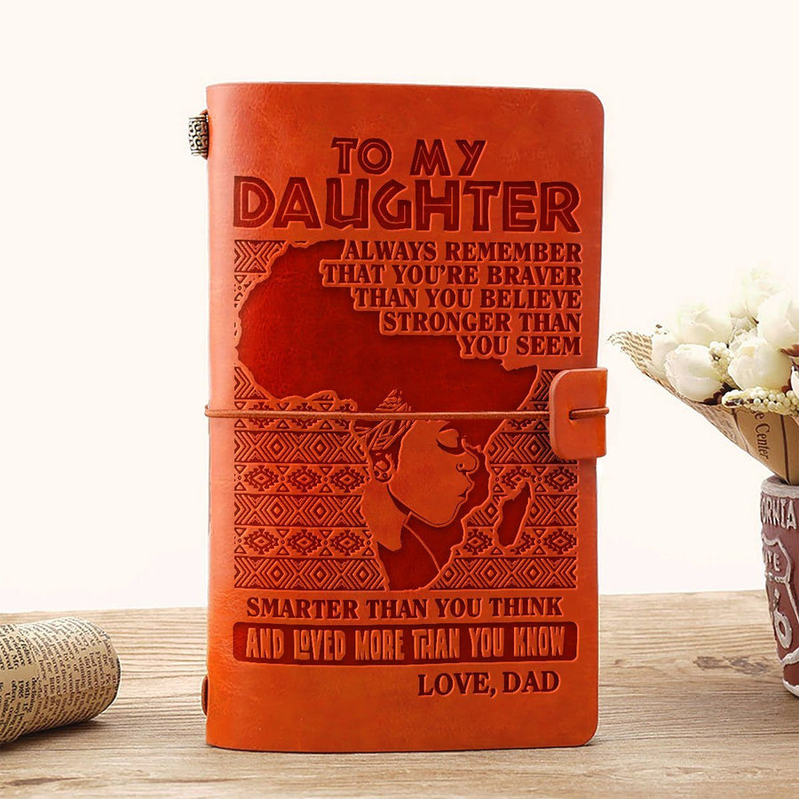 Dad to Daughter - Loved More Than You Know - Vintage Journal