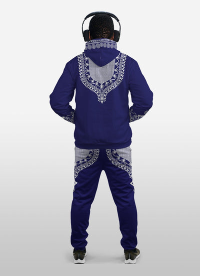 Printed DASHIKI 10 Fleece All-over Hoodie And Joggers Set
