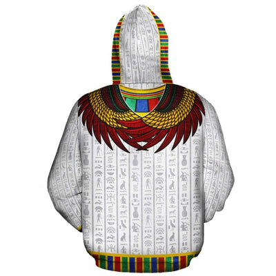 God Horus White All-over Hoodie