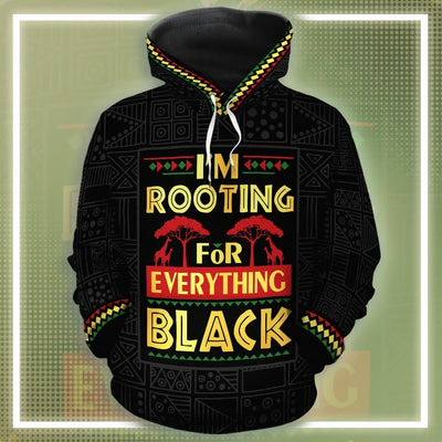 I'm Rooting For Everything Black All-over Hoodie