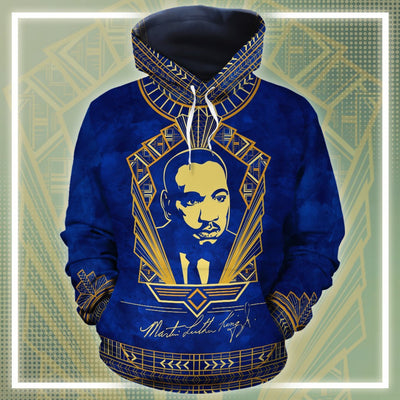 Martin Luther King Royal All-over Hoodie