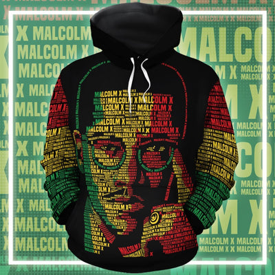 Malcolm X Typo All-Over Hoodie