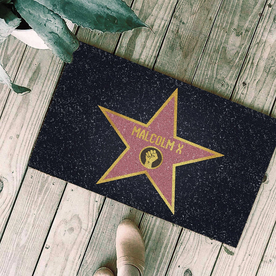 Malcolm X Walk Of Fame Doormat