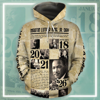Martin Luther King Jr. Day All-over Hoodie