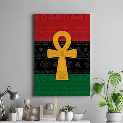 Pan African Ankh Portrait Canvas - FREE SHIPPING