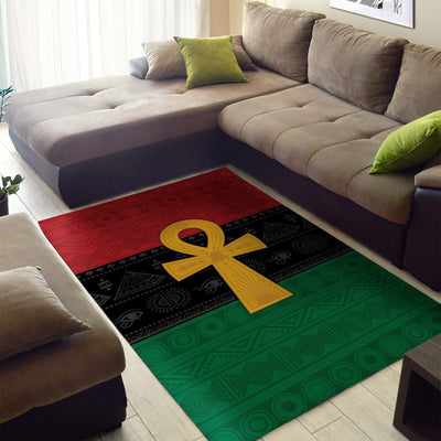 [FREE SHIPPING] Pan African Ankh Rug