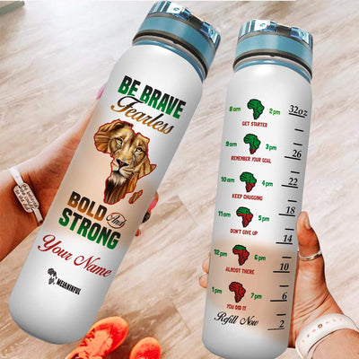 Personalized Be Brave Water Tracker Bottle