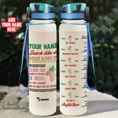 Personalized Pineapple Water Tracker Bottle